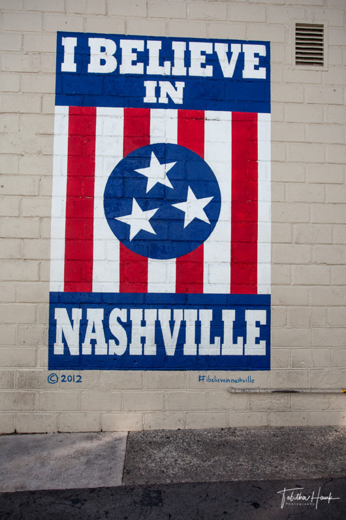 I Believe In Nashville Mural 12th Ave South
