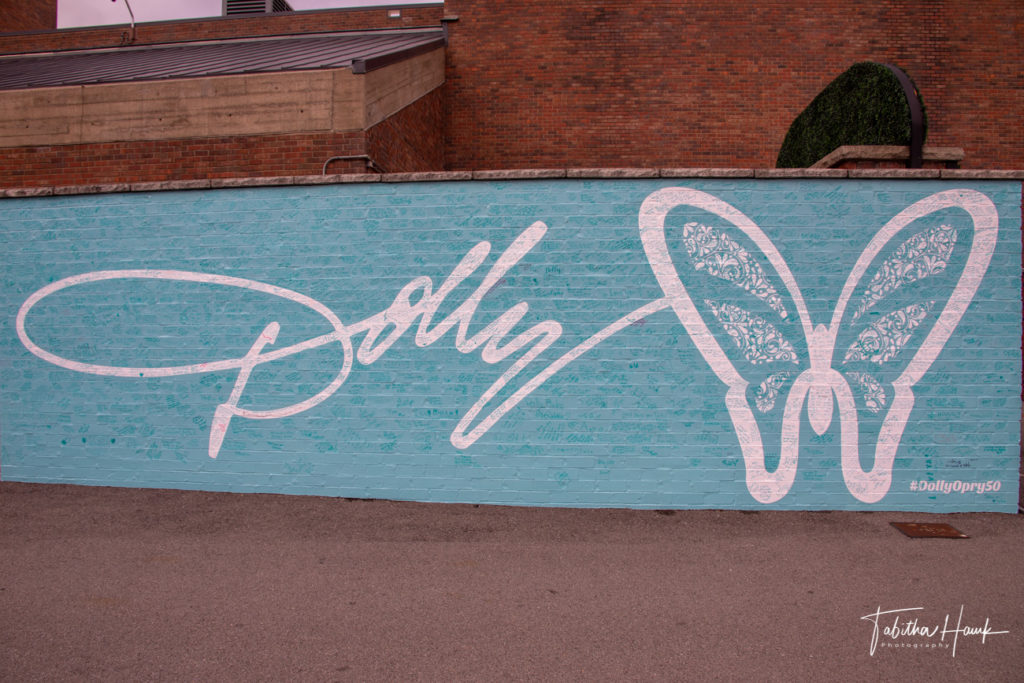 Dolly Parton Mural at Grand Ole Opry